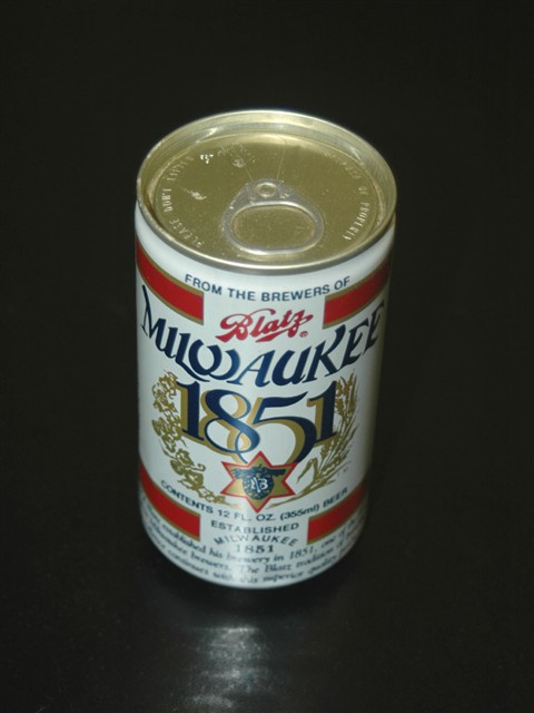 Blatz Milwaukee 1851 Beer Can