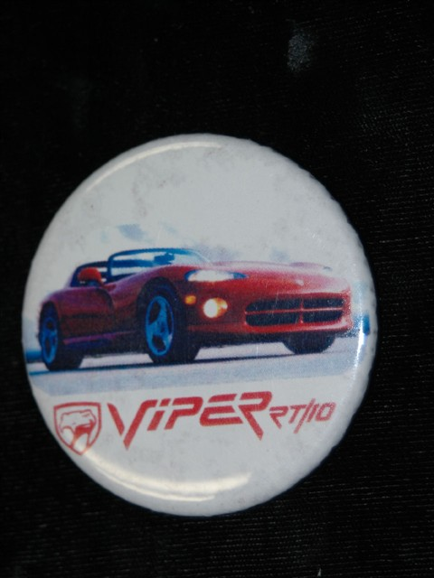Pinback Button -- Dodge Viper RT/10