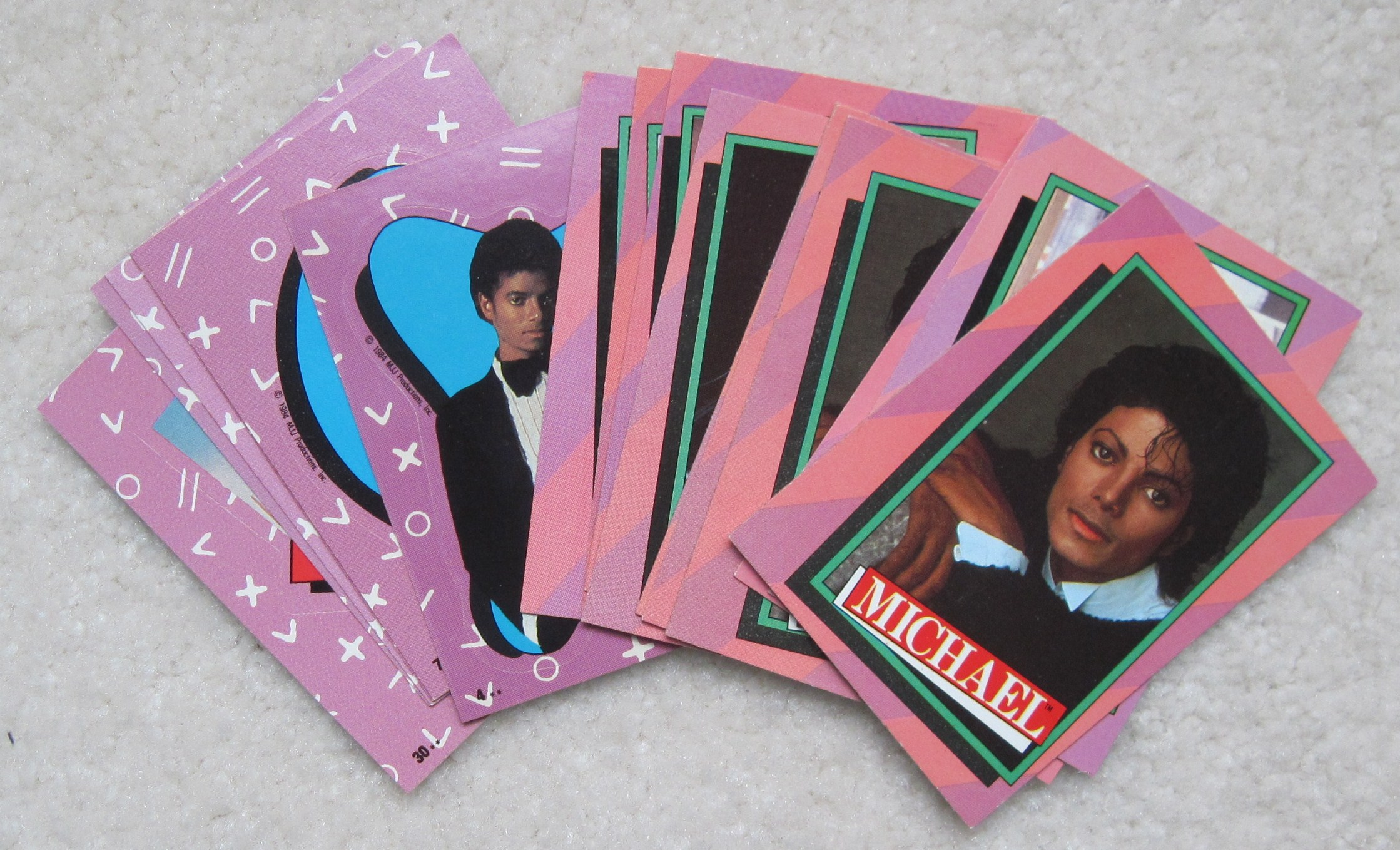 Michael Jackson Collector cards - Partial set 1