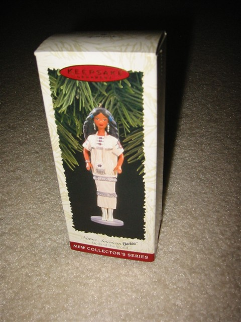 Hallmark Ornament -- Native American Barbie 1996