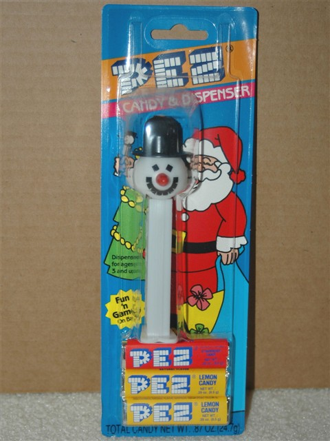 XMas Snowman Pez, Discontinued Version (MOC)