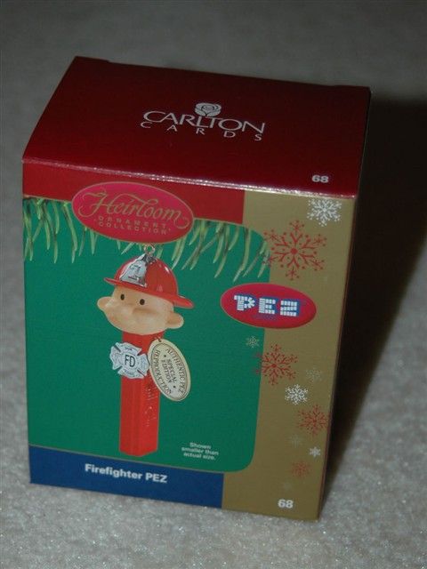 PEZ Fireman Ornament