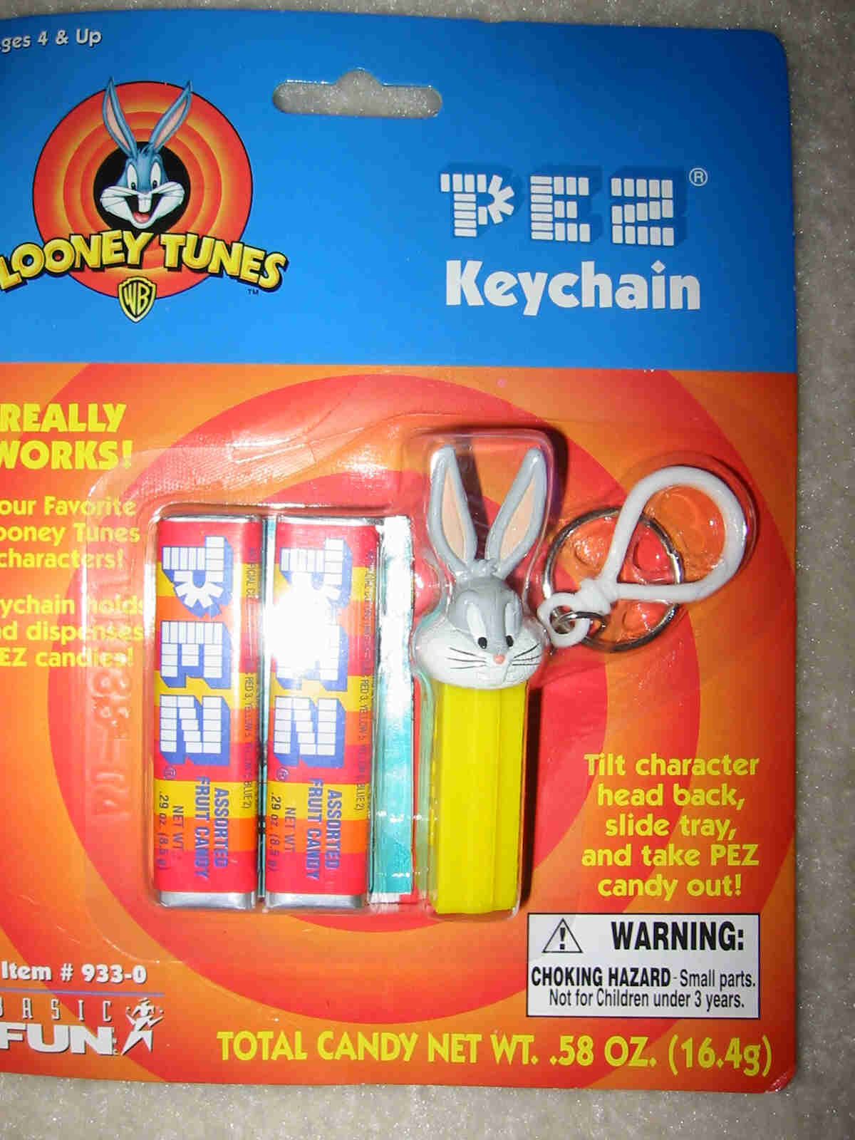 Pez Key Chain - Bugs Bunny - Click Image to Close