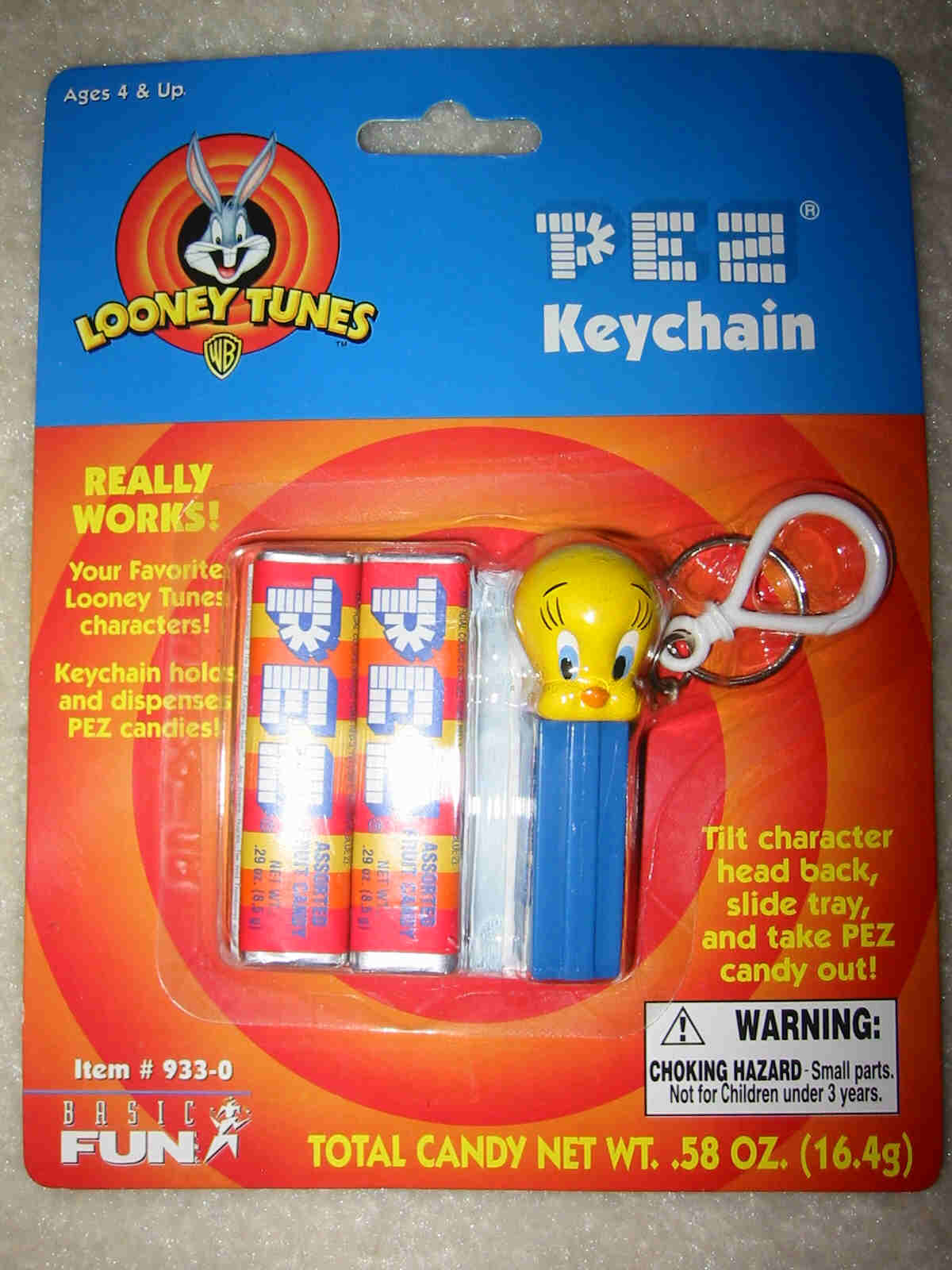 Pez Key Chain - Tweety