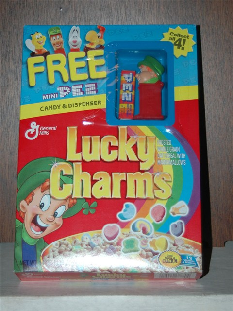 Pez Cereal Box Premium - Lucky Charms