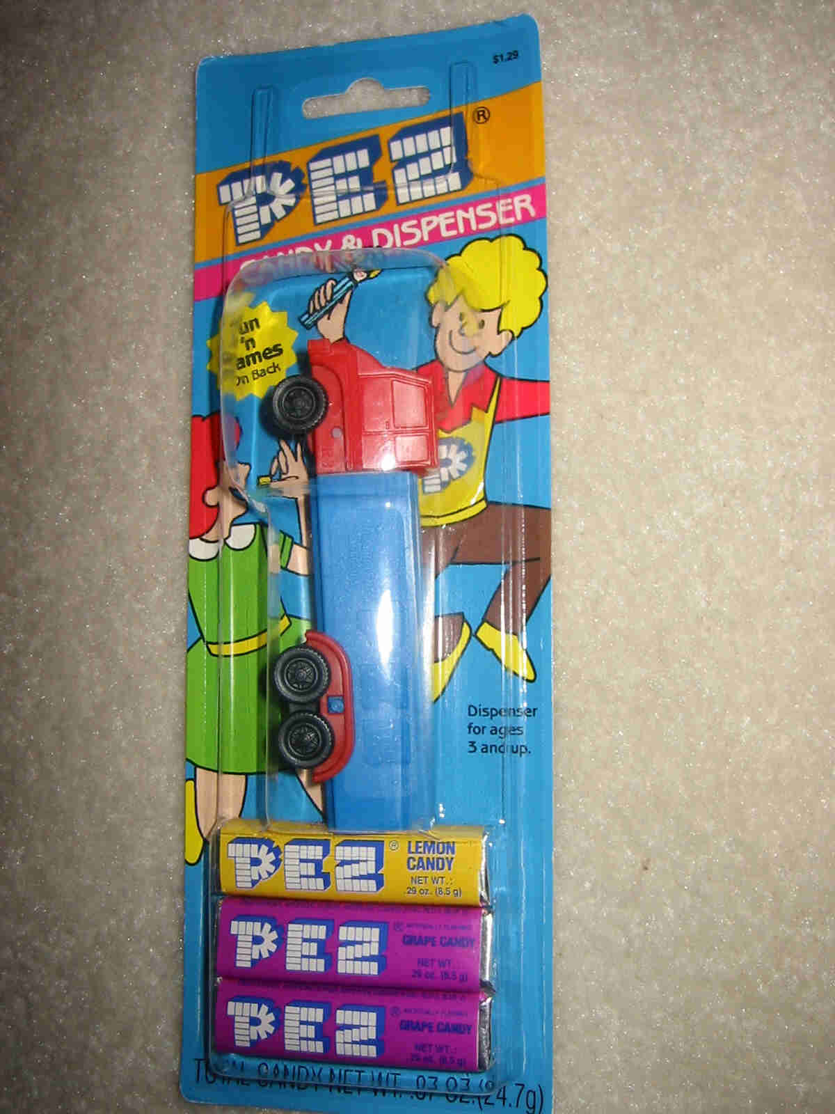Pez Truck R3 Red on Blue (MOC)
