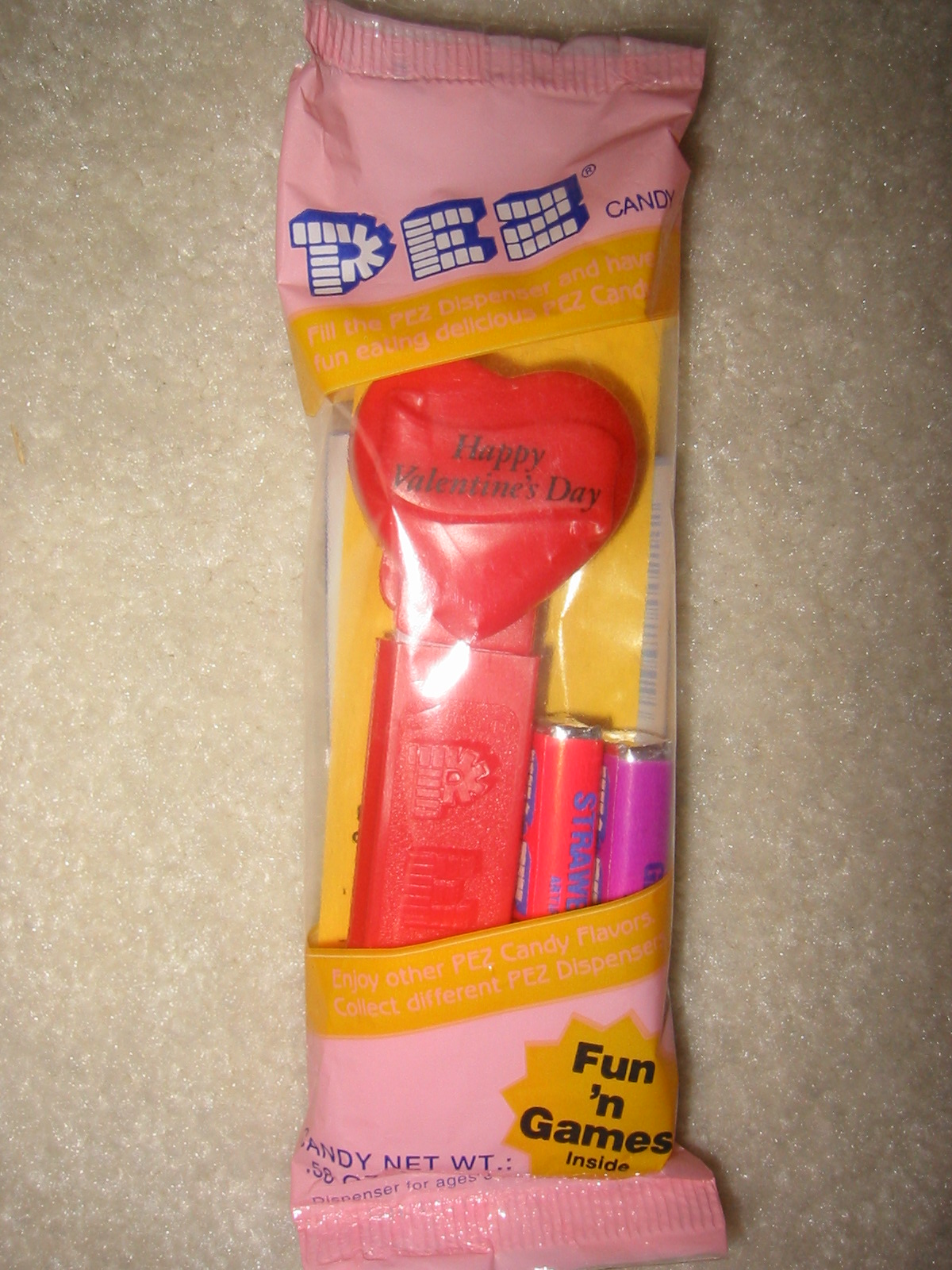 Valentine Pez - Original Red Heart (MIB)