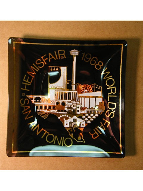 1968 Worlds Fair Ash Tray -- San Antonio HemisFair