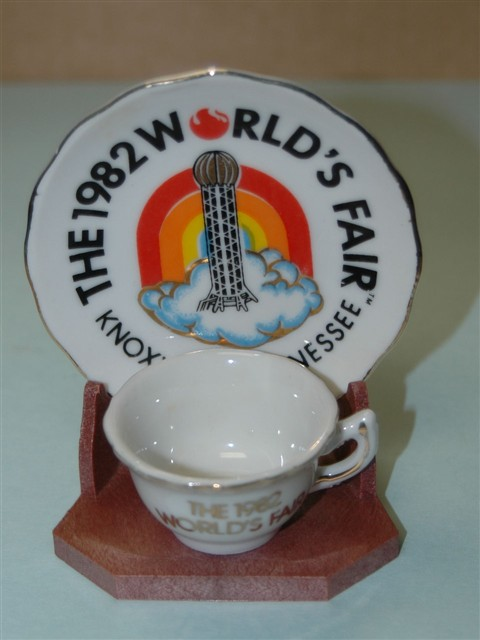 1982 Worlds Fair Cup And Saucer Set