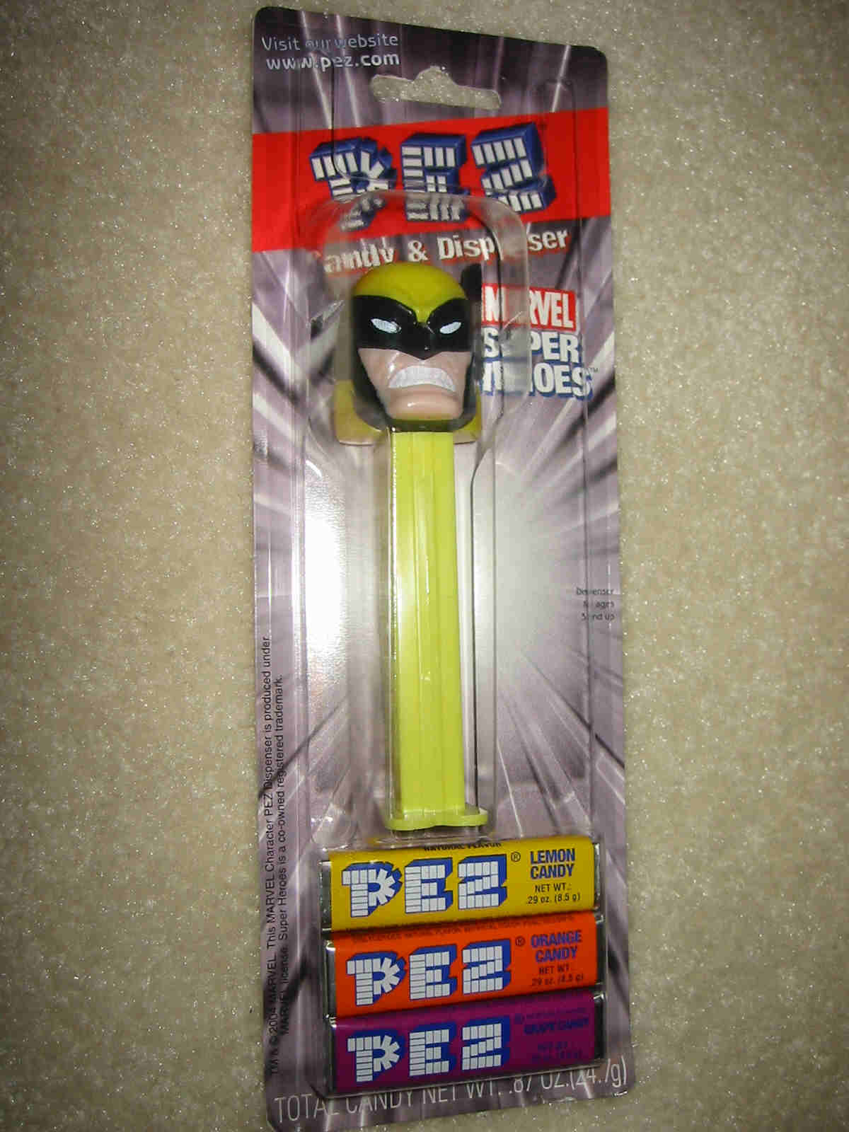 Wolverine Pez - New Card
