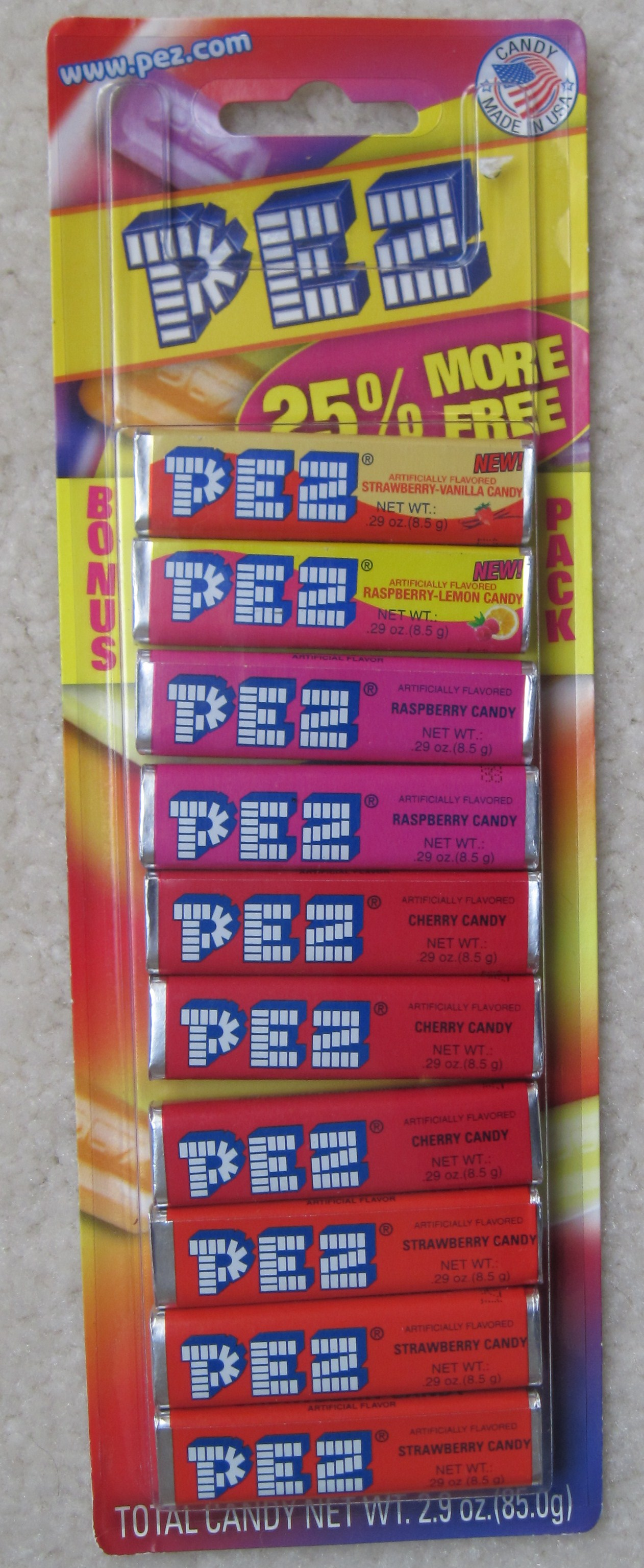 Pez Candy Pack - New Flavors 2011