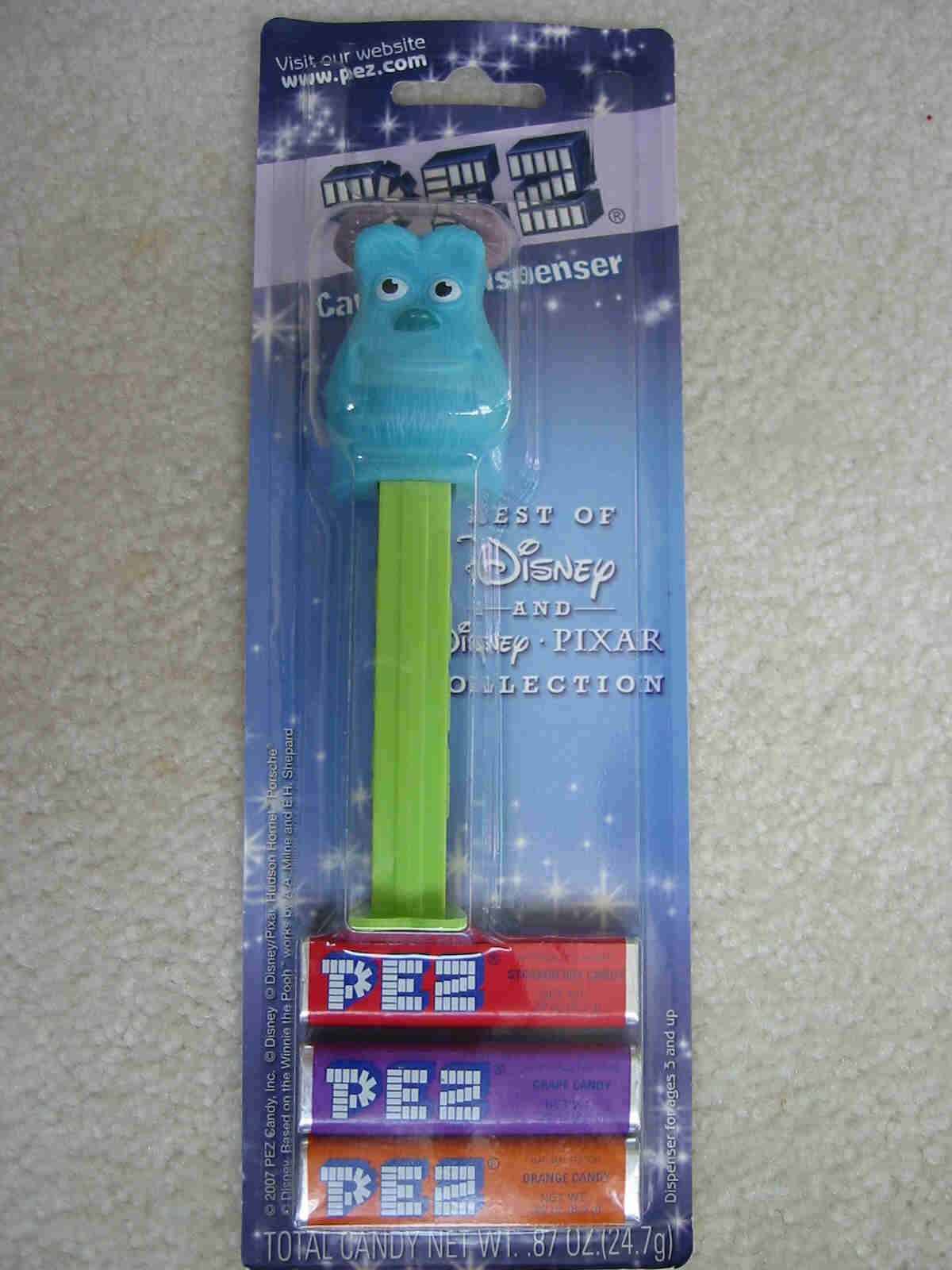 Disney Best of Pixar Pez - Sulley - Click Image to Close