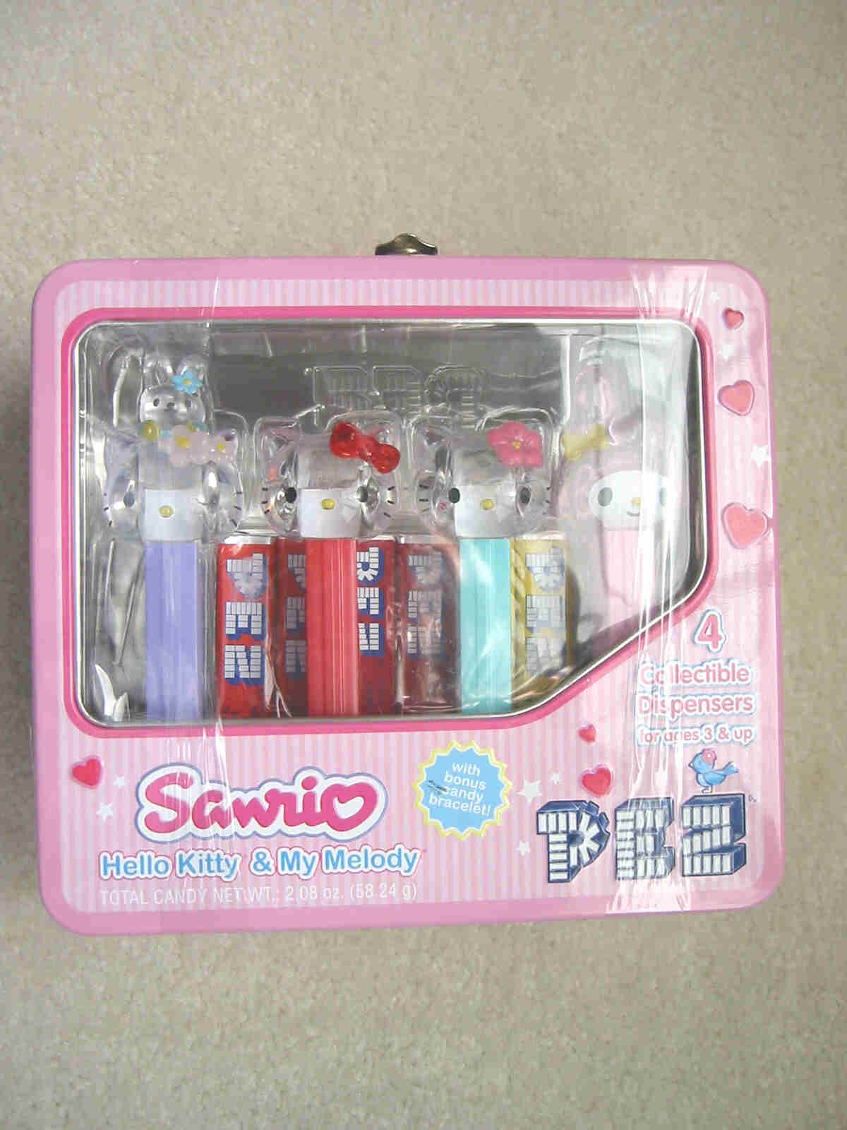 Hello Kitty Pez Tin Lunchbox Set