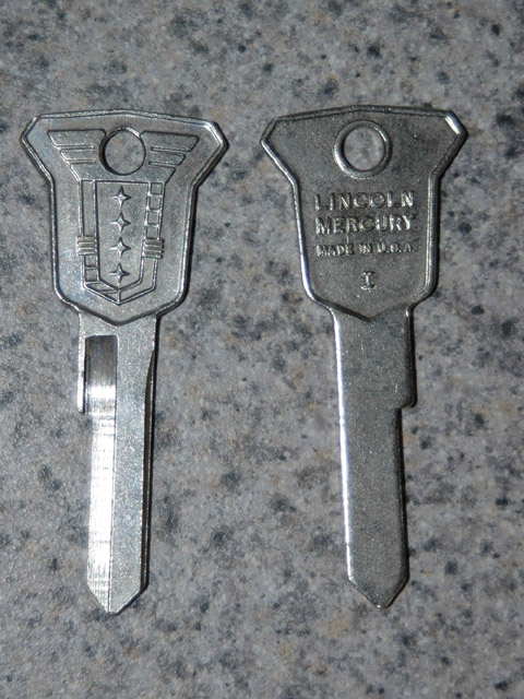 Vintage Mercury Ignition Key