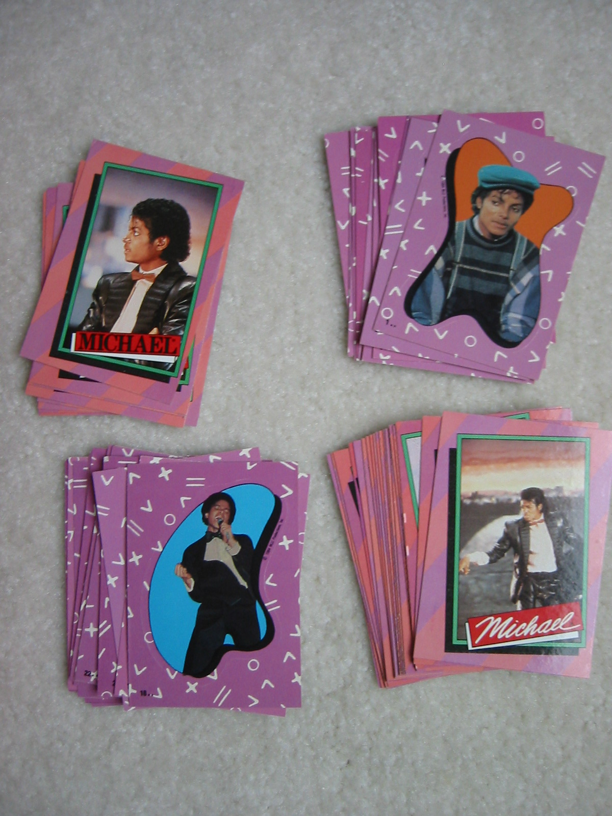 Michael Jackson Collector Cards - Loose (1984)