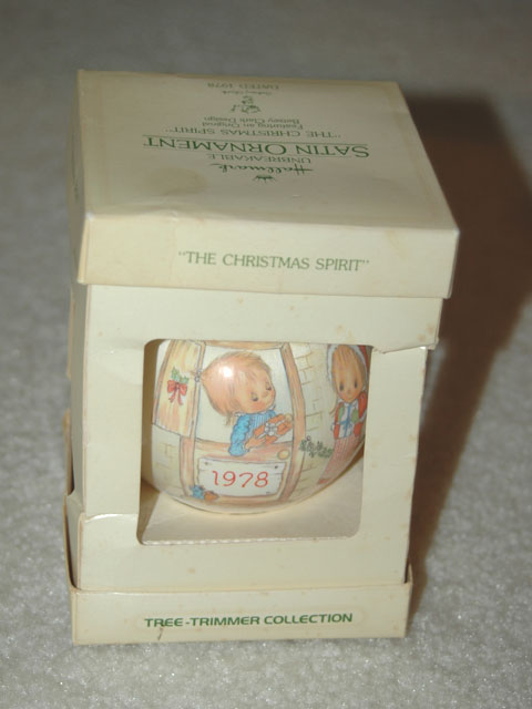 "1978 Hallmark Ornament -- ""The christmas spirit"""